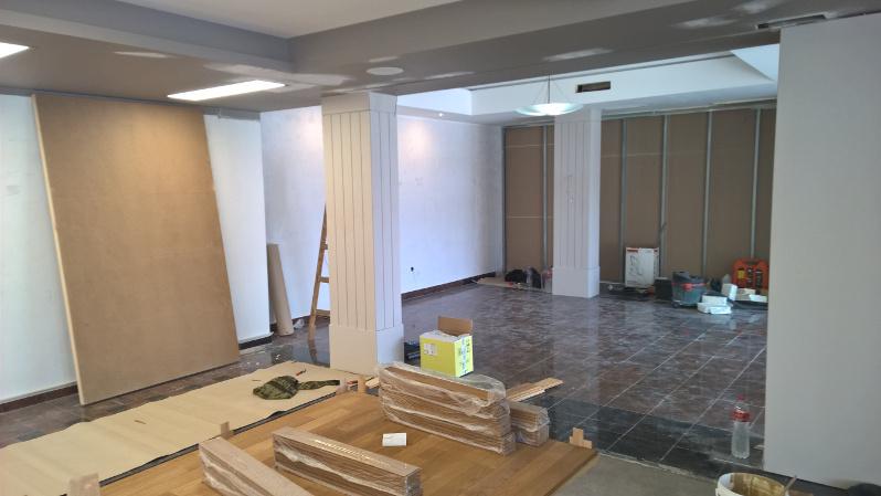 Hotel Visegrád előcsarnokának felújítása belülről