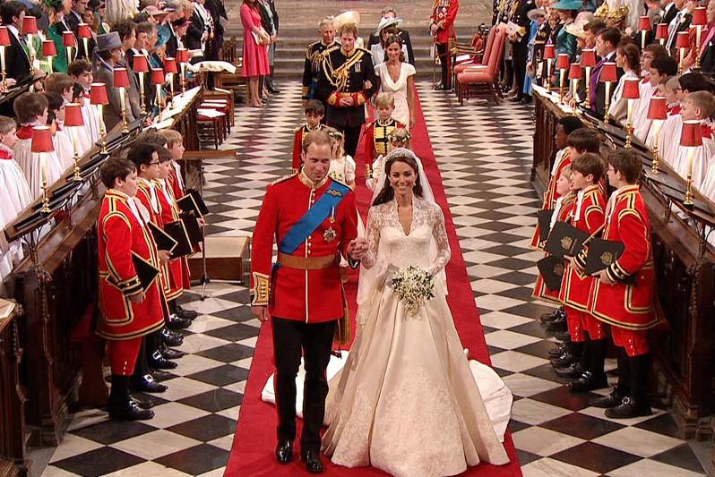 Vilmos herceg és Kate Middleton esküvője templomi szertartás