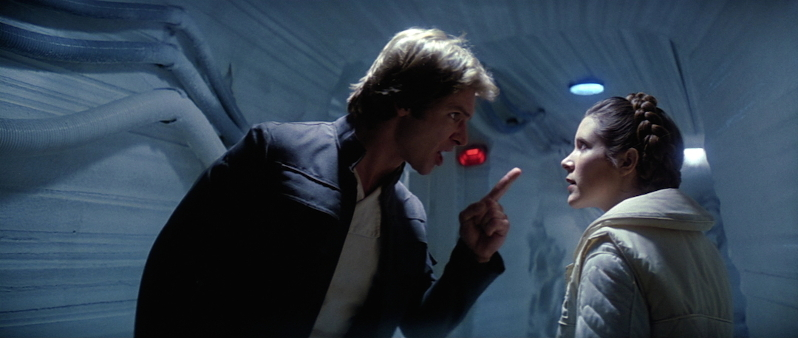 Han és Leia civódnak