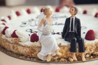 őszi esküvői édesség